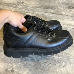 LUGZ Black Leather Boots in EUC